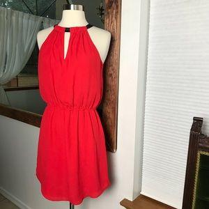 AQUA Used Red Short Sleeveless Dress